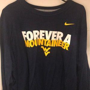 NIKE WVU Long Sleeve Shirt 2XL